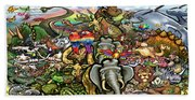 All Creatures Great Small Beach Towel
