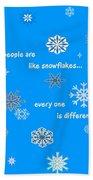 Snowflakes 5 Beach Towel