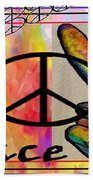 Peace In Every Color Beach Towel