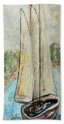 On A Cloudy Day - Impressionist Art Beach Towel