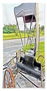 Buggy By The Road Beach Towel