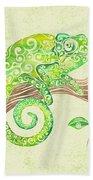 Swirly Chameleon Beach Towel