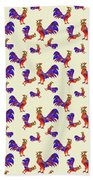 Red Rooster Art Beach Towel