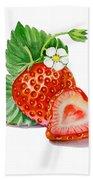 Artz Vitamins A Strawberry Heart Beach Towel