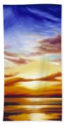 As The Sun Sets Beach Towel