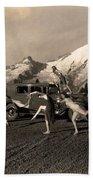 Asahel Curtis, 1874-1941, Dancing Girls At Sunrise Beach Towel