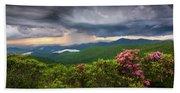 Asheville North Carolina Blue Ridge Parkway Thunderstorm Scenic Mountains Landscape Photography Beach Towel