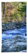 Asheville Stream Beach Towel