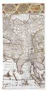 Asia: Map, C1618 Beach Towel