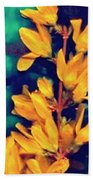 Asian Flower Beach Towel