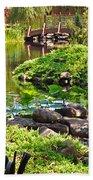 Asian Garden 3 Beach Towel