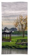 Asian Landscape Beach Towel