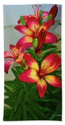 Asian Lilly Spring Time Beach Towel