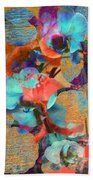 Asian Orchid Abstract Beach Towel