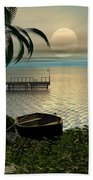 Asian Sunset Scene Beach Towel