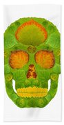 Aspen Leaf Skull 10 Beach Towel