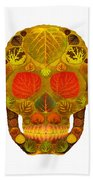 Aspen Leaf Skull 12 Beach Towel