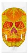Aspen Leaf Skull 13 Beach Towel