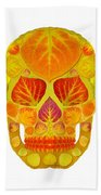 Aspen Leaf Skull 13 Beach Sheet