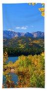 Aspen On Pikes Peak And Crystal Reservoir Beach Towel