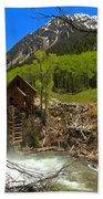 Aspens Around The Crystal Mill Beach Towel