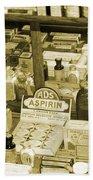 Aspirin In Sepia Beach Towel