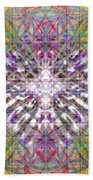 Assent From The Womb In The Flower Tree Of Life Beach Sheet