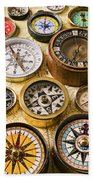 Assorted Compasses Beach Towel