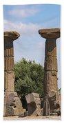 Assos Temple Of Athena Columns Beach Towel
