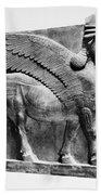 Assyria: Bull Scultpure Beach Towel