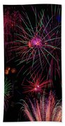 Astonishing Fireworks Beach Towel