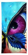 Astral Butterfly. Soul - Memory - Mind Beach Towel