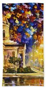Asuncion Paraguay - Palette Knife Oil Painting On Canvas By Leonid Afremov Beach Towel