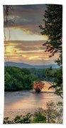 At A Bend In The River Beach Towel by Kendall McKernon