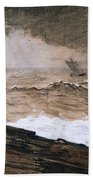 At High Sea Beach Towel by Winslow Homer