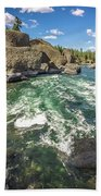 At Riverside Bowl And Pitcher State Park In Spokane Washington Beach Towel