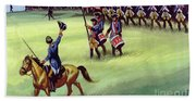 At Saratoga The Colonists Won Victory Beach Towel