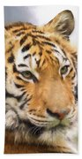 At The Center - Tiger Art Beach Towel