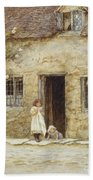 At The Cottage Door Beach Towel