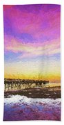 At The Pier Beach Towel