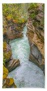 Athabasca River Canyon Beach Towel