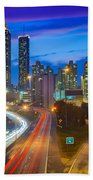 Atlanta Downtown By Night Beach Towel
