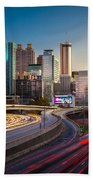 Atlanta Downtown Lights Beach Towel