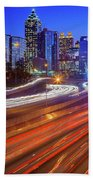 Atlanta Interstate I-85 By Night Beach Sheet