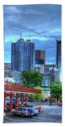 Atlanta Landmark The Varsity Art Beach Towel