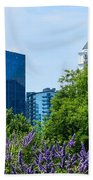 Atlanta Skyline From Atlanta Botanical Garden Beach Towel
