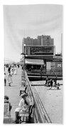 Atlantic City 1920 Boardwalk Promenade, Beach Sand, Signs Apollo Theatre, Mitzi  Beach Towel