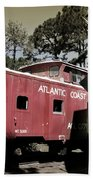 Atlantic Coast  Line Railroad Carriage Beach Towel