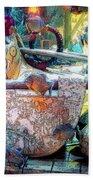 Atlantis Aquarium In Watercolor Beach Towel
