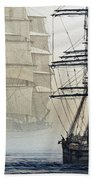 Atlas And Inverclyde Beach Towel by James Williamson